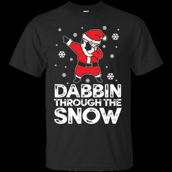 Cute Dabbing Through The Snow T-shirt Funny Santa Has Swag T-Shirt & Hoodie